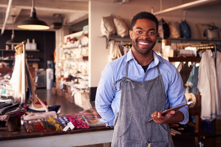 Male business owner